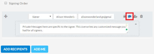Further personalize invitation emails with private messaging