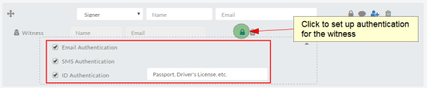 witness signers authentication options