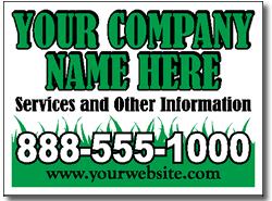 lawn maintenance sign design lc06