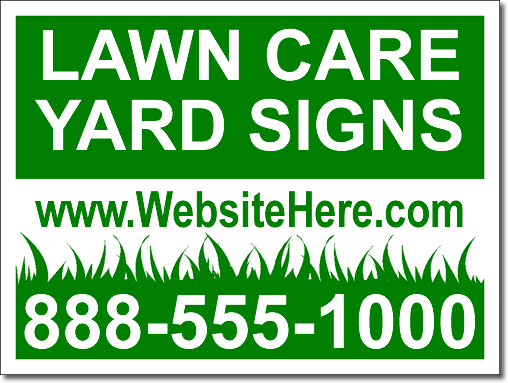 lawn care yard signs - 100