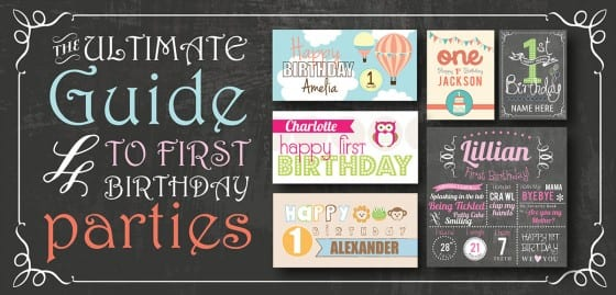 First Birthday Party Ideas Themes Games & More Signs Com