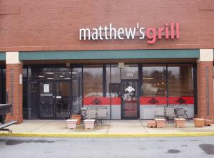 Matthews Grill channel letter