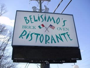 Belisimo's Ristorante pylon sign
