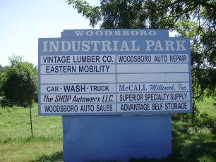 Woodsboro Industrial Park pylon sign