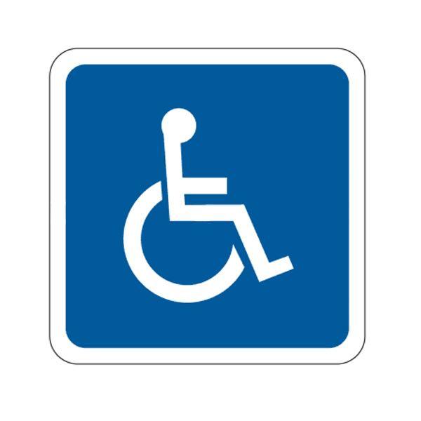 handicap symbol square sign