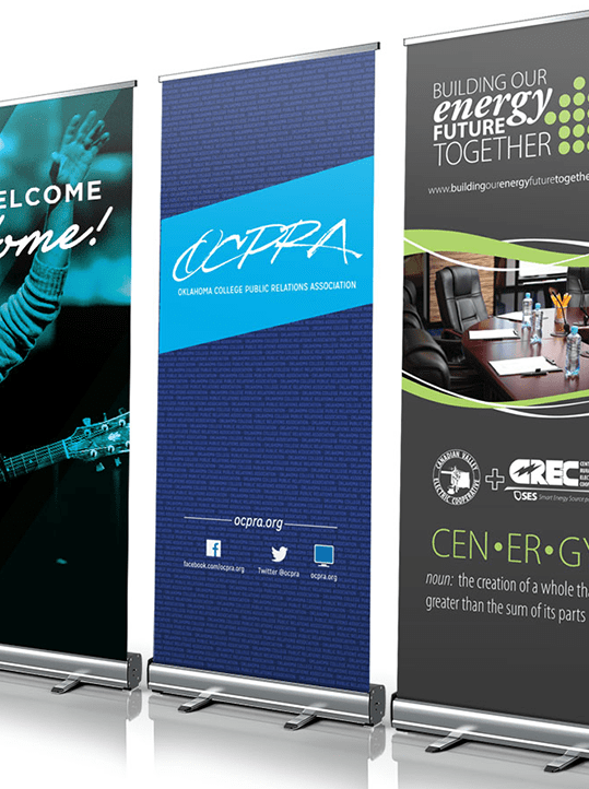 standard retractable banner with