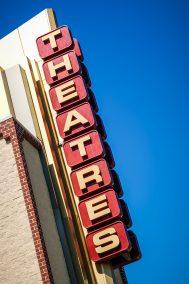 Movie Theatres Sign