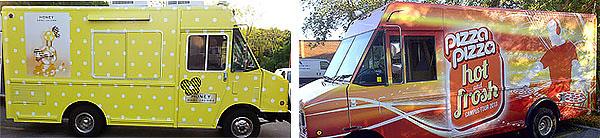 Vinyl wrapped ice cream trucks