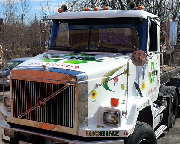 tractor trailer truck after vinyl wrap