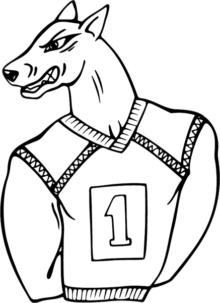 Mean Dog Coloring Pages
