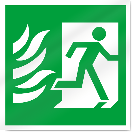 fire exit symbol with