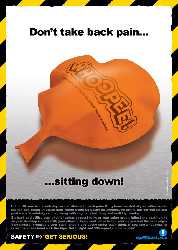 sitting posture on chair in office empty poem gegs5 | unique and eye-catching health & safety posters by signup2safety