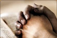 Photo of hands in prayer