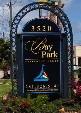 Bay Park Apartments sign
