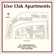 Live oak apartment sign