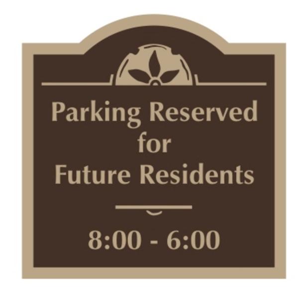 resident parking sign