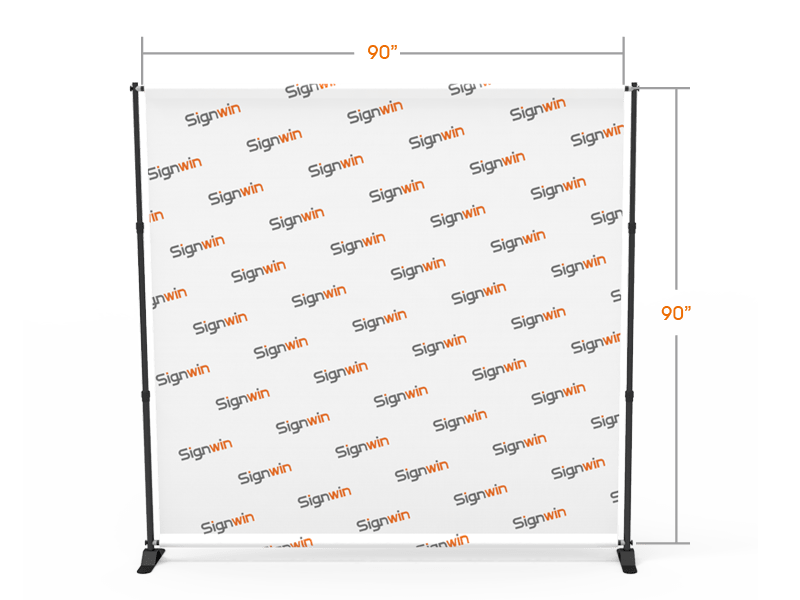 Adjustable Step and Repeat Teleconference Video Backdrop