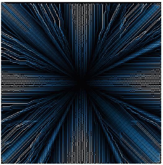 résultat du calcul d'écoulement avec la méthode D8