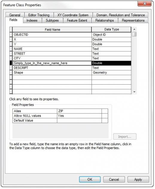 modifier un champ dans arcgis 10.2
