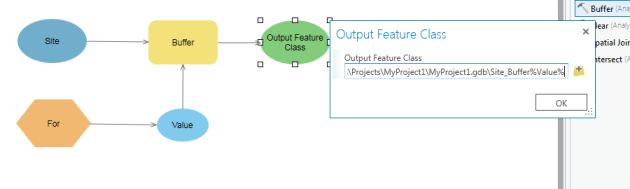 remplacement des variables en ligne dans model builder