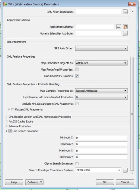 paramétrage de la connexion WFS nasca - 2