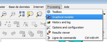 ouverture du modeleur graphique de Qgis