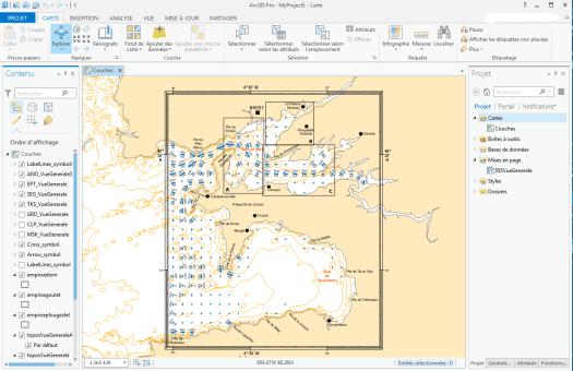 carte chargée à partir d'un document arcmap