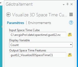 visualiser le cube spatio-temporel en 3D
