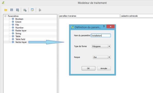 """ajout d'une entrée de type """"couche vecteur"""" dans le modeleur graphique de QGis"""