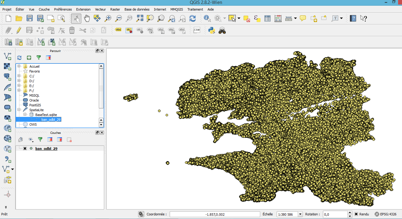 How to create a SpatiaLite database with QGis | Blog GIS & Territories
