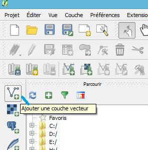 bouton ajouter une couche vecteur