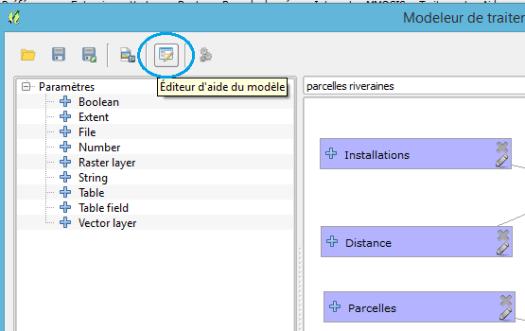 bouton Editeur de l'aide du modèle