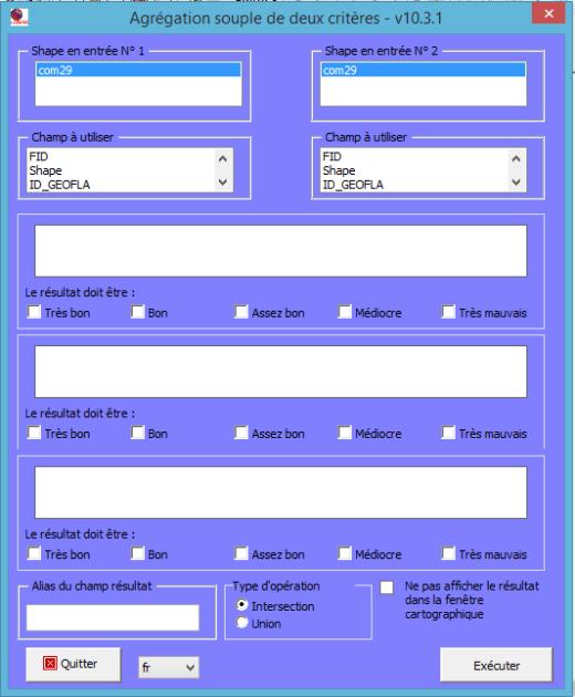 interface de la commande agrégation souple