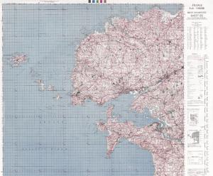 exemple de feuille topographique de 1946 au 1/100000