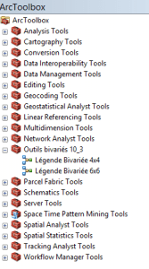 ajout de la boîte à outils dans arctoolbox