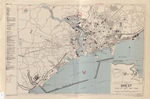 ville de brest en 1942-1944 au 1/6670