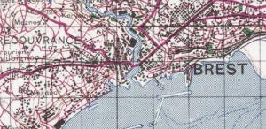 zoom sur la feuille 2G des cartes topographiques 1946 au 1/100000