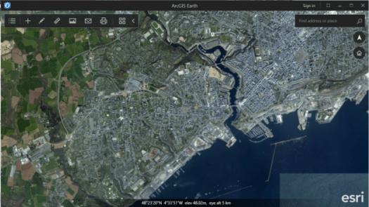 fonds de carte imagerie d'arcgis earth