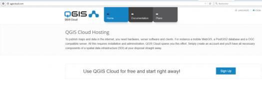 création d'un compte qgis cloud