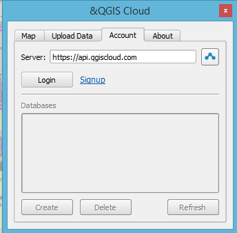 qgis cloud login