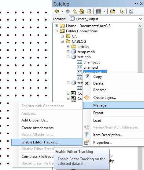 activation du suivi d'éditeur avec les paramètres par défaut