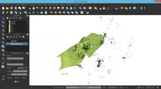 chargement de données dans l'interface night mapping de qgis 2.12