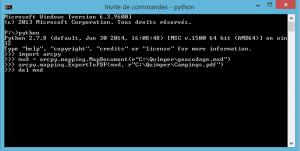 création du pdf avec python