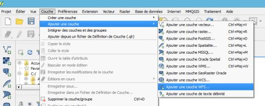 chargement d'une couche WFS dans Qgis 2.12.1