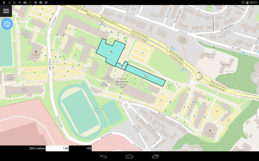 ouverture de qfield sur le dispositif mobile android
