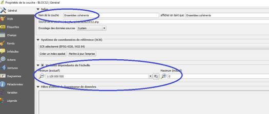 options généralkes d'une couche avec le plugin qgis2web de qgis