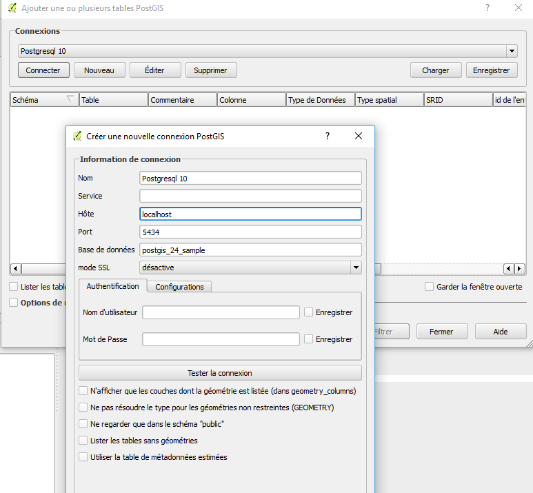 Start with PostgreSQL / Postgis -Introduction to pgAdmin 4