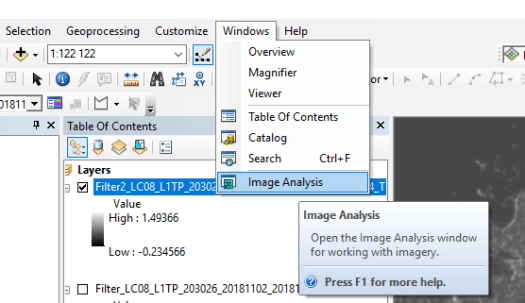 ArcMap Image Classification Tutorial : 2 3- The spatial filters