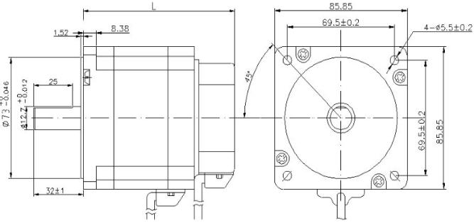 86mm 3 Phase Brushless DC Motor