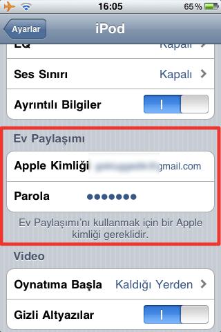 Sihirli elma itunes home sharing iPhone 2b